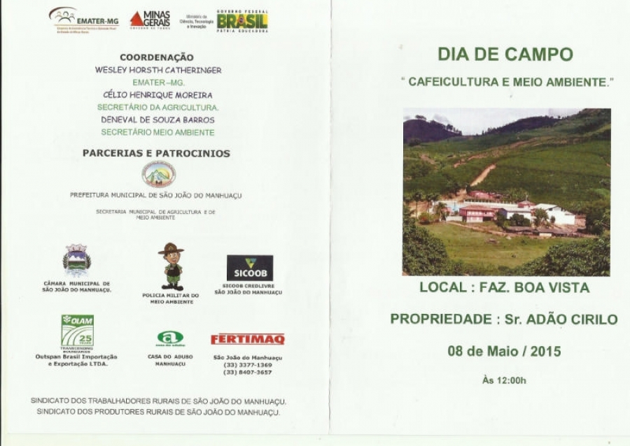 Dia de Campo - Cafeicultura e Meio Ambiente