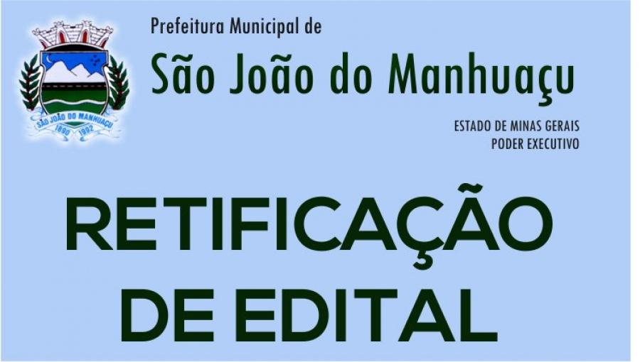 RETIFICAÇÃO DE EDITAL do Conselho Tutelar