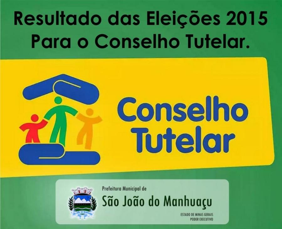 Resultado das eleições para o Conselho Tutelar